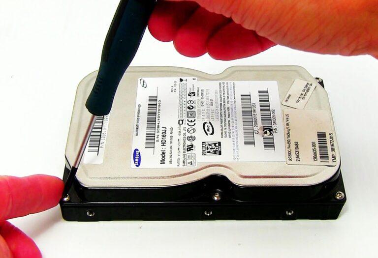 باز کردن پیچ های هارد دیسک