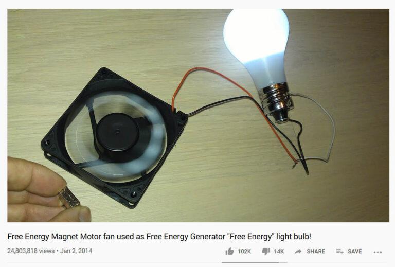 یک طرح دستگاه انرژی رایگان و ویدئوی آن با 24 میلیون بازدید